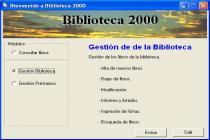 Captura principal de Biblioteca 2000