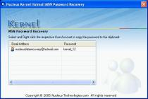 Captura principal de Nucleus Kernel Hotmail MSN Password Recovery