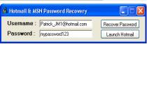 Hotmail & MSN Password Recovery