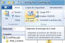 Captura principal de WinZip