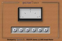 Captura principal de Guitar Tuner Java Applet