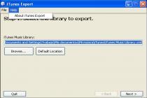 iTunes Export