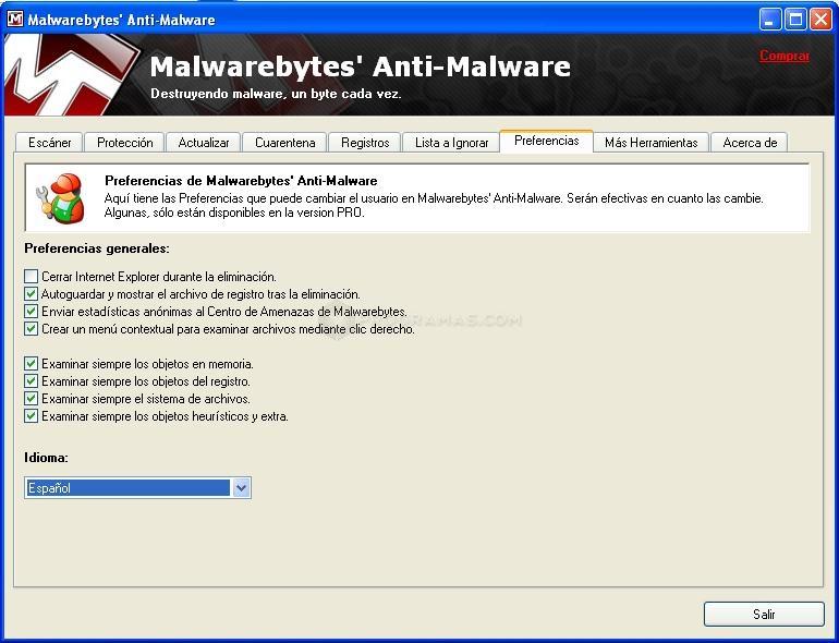 Скачать Malwarebytes Anti-Malware - программа использует технологию