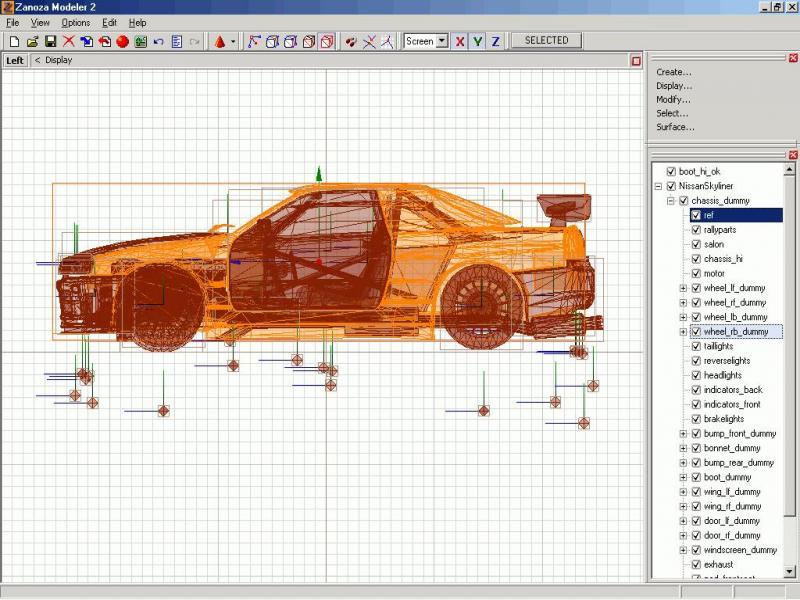 Создание модели машины из чертежей