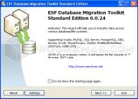 Captura principal de ESF Database Migration Tool