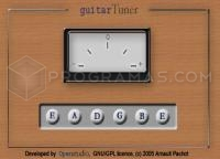 Captura principal de Guitar Tuner Java Applet