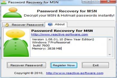 Opublikowano MSN Password Cracker