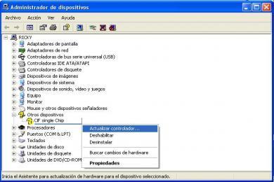 Screenshot CIF Single Chip - Driver genérico