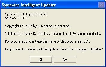 Screenshot Norton Antivirus DAT Update
