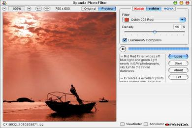 Screenshot Opanda Photofilter (Panther Style)