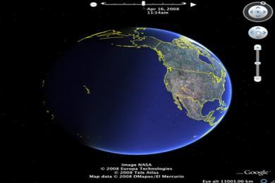 Screenshot Google Earth Pro