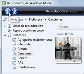 Screenshot Windows Media Player