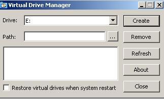 Captura Virtual Drive Manager