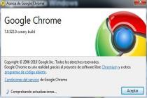 Google Chrome Canary Build